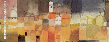 View of Kairuan 1914 By Paul Klee - Oil Paintings & Art Reproductions - Reproduction Gallery