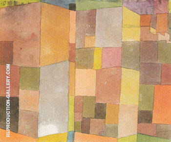 Quarry at Ostermundingen 1915 By Paul Klee Replica Paintings on Canvas - Reproduction Gallery
