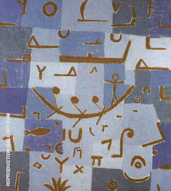 Reproduction of Legend of the Nile 1937 by Paul Klee | Oil Painting Replica On CanvasReproduction Gallery