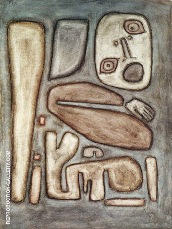 Outbreak of Fear III 1939 By Paul Klee - Oil Paintings & Art Reproductions - Reproduction Gallery