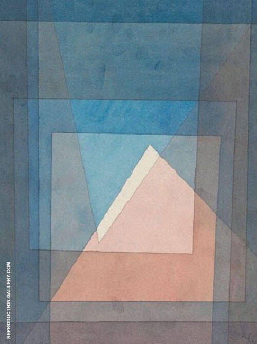 Pyramide 1930 By Paul Klee Replica Paintings on Canvas - Reproduction Gallery