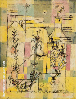 A Hoffmannesque Tale 1921 By Paul Klee - Oil Paintings & Art Reproductions - Reproduction Gallery