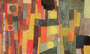 In the Style of Kairouan Transferred to the Moderate 1914 By Paul Klee Replica Paintings on Canvas - Reproduction Gallery