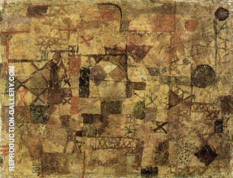 Carpet of Memory 1914 By Paul Klee - Oil Paintings & Art Reproductions - Reproduction Gallery
