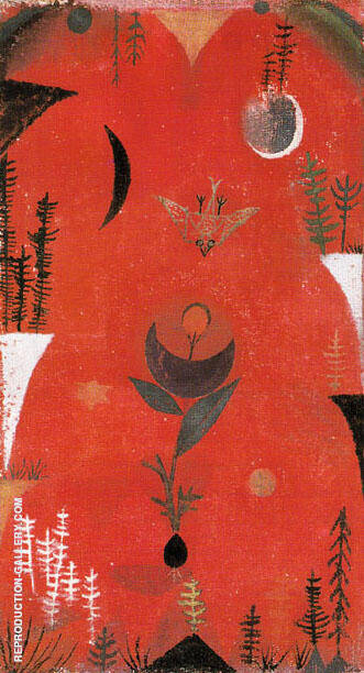 Flower Myth 1918 By Paul Klee - Oil Paintings & Art Reproductions - Reproduction Gallery
