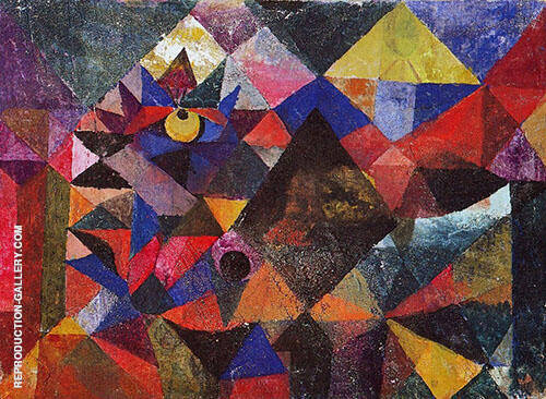 Reproduction of Cacodemonic 1916 by Paul Klee | Oil Painting Replica On CanvasReproduction Gallery