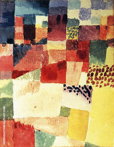 Hammamet Motif 1914 By Paul Klee Replica Paintings on Canvas - Reproduction Gallery
