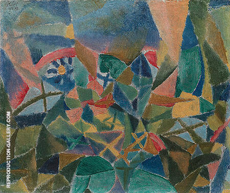 Flower Bed 1913 By Paul Klee Replica Paintings on Canvas - Reproduction Gallery