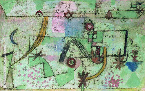 In Bachs Style 1919 By Paul Klee Replica Paintings on Canvas - Reproduction Gallery