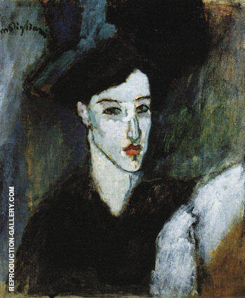 Reproduction of The Jewess c1908 by Amedeo Modigliani | Oil Painting Replica On CanvasReproduction Gallery