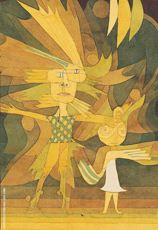 Spirits Figures from a Ballet 1922 By Paul Klee Replica Paintings on Canvas - Reproduction Gallery