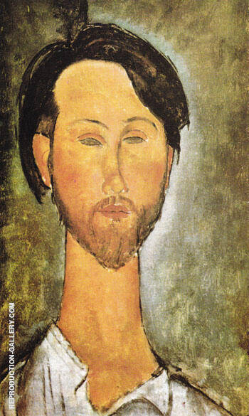 Portrait of Leopold Zborovski 1918 Painting By Amedeo Modigliani