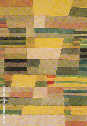 Monument in Fertile Country 1929 By Paul Klee Replica Paintings on Canvas - Reproduction Gallery