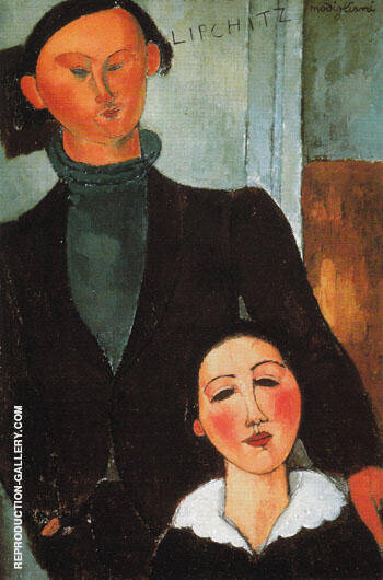 Jacques and Berthe Lipchitz 1916 By Amedeo Modigliani - Oil Paintings & Art Reproductions - Reproduction Gallery