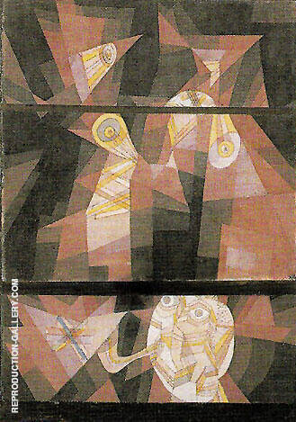 Reproduction of Nocturne for Horn 1921 by Paul Klee | Oil Painting Replica On CanvasReproduction Gallery