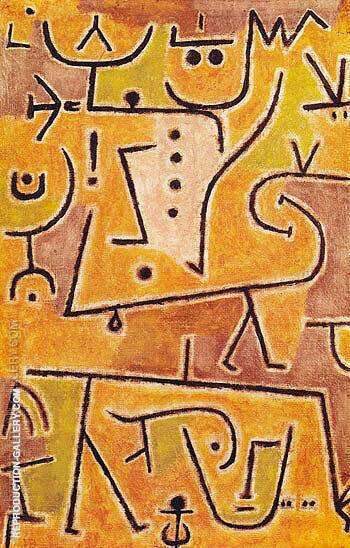 Red Waistcoat 1938 By Paul Klee