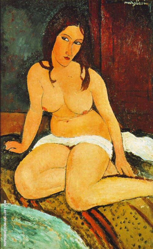 Seated Nude 1917 Painting By Amedeo Modigliani - Reproduction Gallery