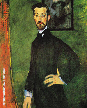 Portrait of Paul Alexandre Against a Green Background 1909 By Amedeo Modigliani - Oil Paintings & Art Reproductions - Reproduction Gallery