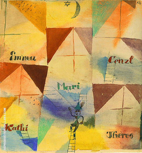 The Bavarian Don Giovanni 1919 By Paul Klee Replica Paintings on Canvas - Reproduction Gallery