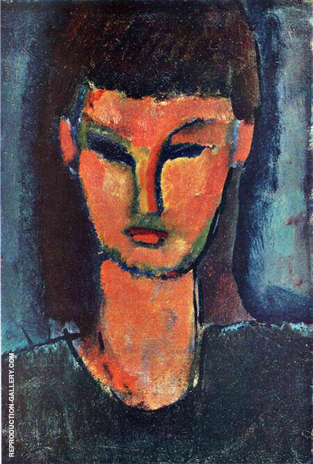 Woman's Head 1910 Painting By Amedeo Modigliani - Reproduction Gallery