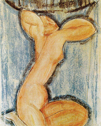 Caryatid 1913 By Amedeo Modigliani