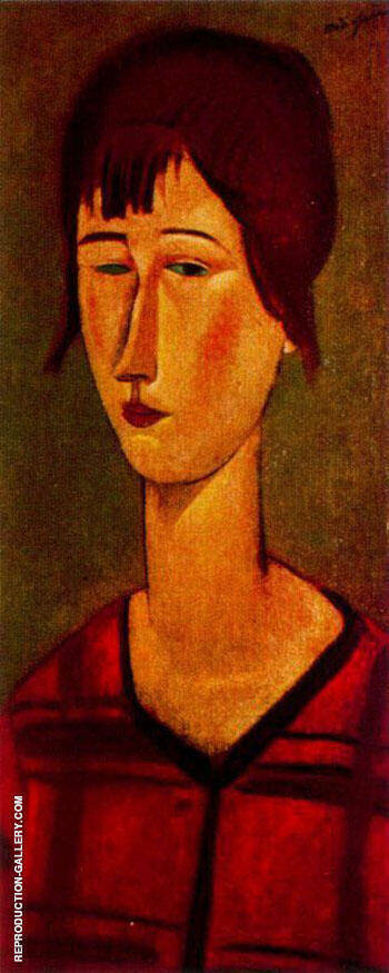 Marcelle 1917 By Amedeo Modigliani Replica Paintings on Canvas - Reproduction Gallery
