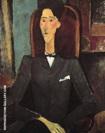 Portrait of Jean Cocteau 1916 By Amedeo Modigliani Replica Paintings on Canvas - Reproduction Gallery