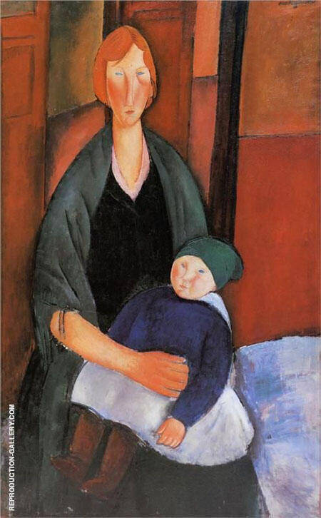 Seated Woman with Child 1919 Painting By Amedeo Modigliani