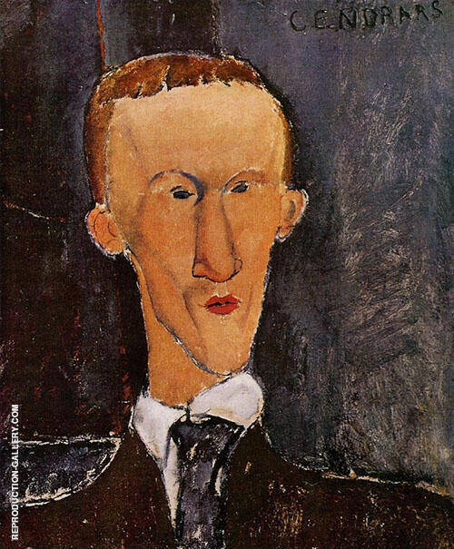 Portrait of Blaise Cendrars 1918 Painting By Amedeo Modigliani
