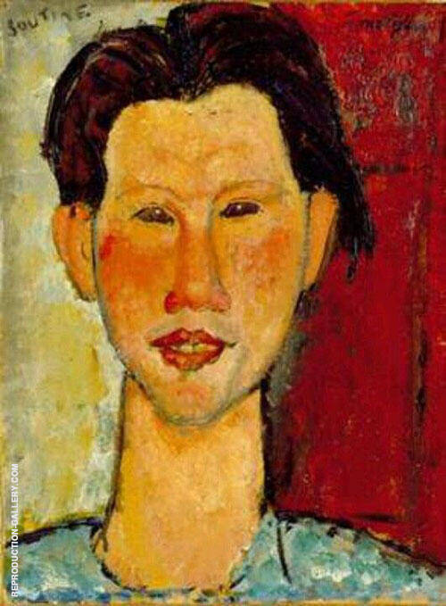 Portrait of Chaim Soutine 1915 By Amedeo Modigliani Replica Paintings on Canvas - Reproduction Gallery