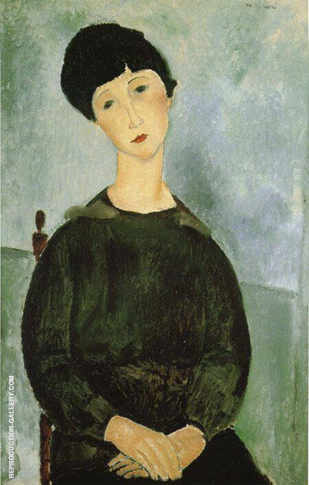 Young Girl 1918 Painting By Amedeo Modigliani - Reproduction Gallery