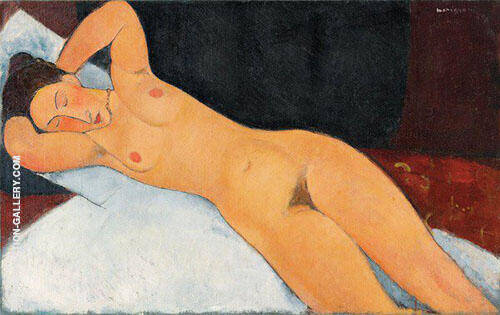 Nude with Necklace 1917 By Amedeo Modigliani