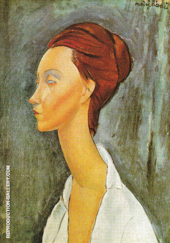 Portrait of Lunia Czechovska 1919 By Amedeo Modigliani - Oil Paintings & Art Reproductions - Reproduction Gallery