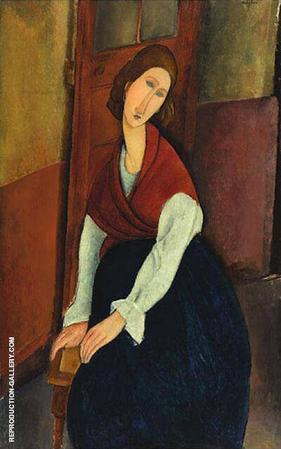 Jeanne Hebuterne Painting By Amedeo Modigliani - Reproduction Gallery