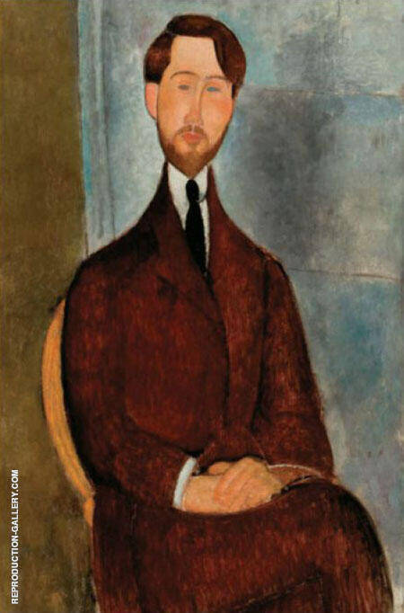 Portrait of Leopold Zborowski 1916 By Amedeo Modigliani Replica Paintings on Canvas - Reproduction Gallery
