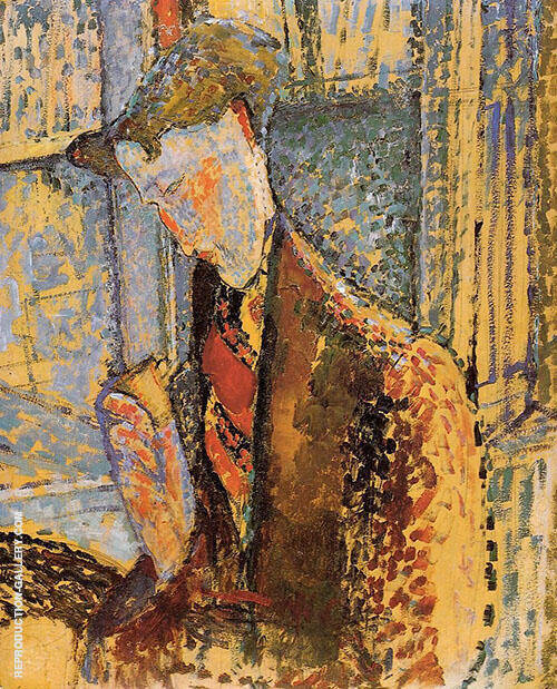 Portrait of Frank Burty Haviland 1914 By Amedeo Modigliani Replica Paintings on Canvas - Reproduction Gallery