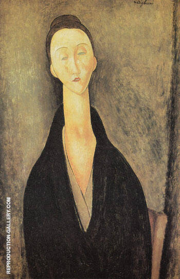 Madame Zborowska 1918 By Amedeo Modigliani - Oil Paintings & Art Reproductions - Reproduction Gallery