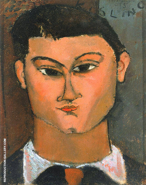 Portrait of Moise Kisling 1915 Painting By Amedeo Modigliani
