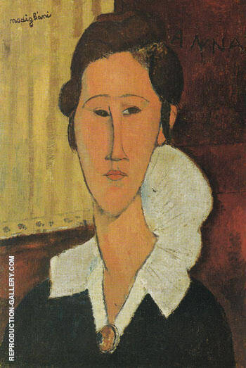 Reproduction of Portrait of Anna Zborovska 1917 by Amedeo Modigliani | Oil Painting Replica On CanvasReproduction Gallery