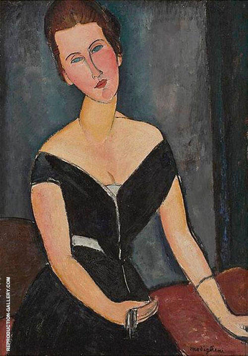 Reproduction of Portrait of Madame Georges van Muyden 1917 by Amedeo Modigliani | Oil Painting Replica On CanvasReproduction Gallery
