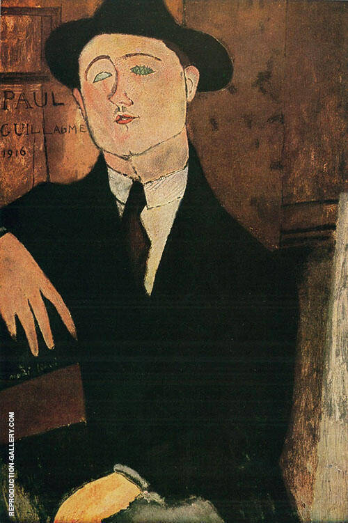 Portrait of Paul Guillaume 1916 By Amedeo Modigliani Replica Paintings on Canvas - Reproduction Gallery
