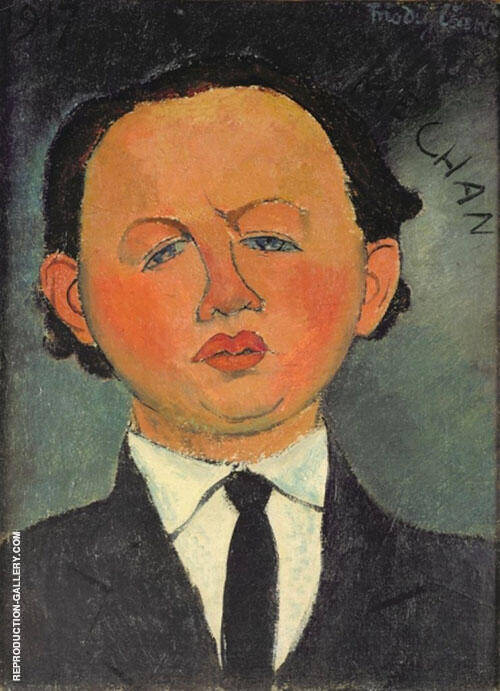 Portrait of Oscar Miestchaninoff Mechan 1917 Painting By Amedeo Modigliani