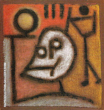 Death and Fire 1940 Painting By Paul Klee - Reproduction Gallery