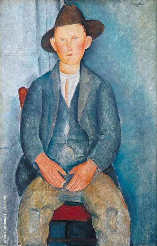 The Little Peasant 1918 Painting By Amedeo Modigliani