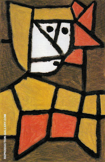 Woman in Peasant Dress 1940 By Paul Klee - Oil Paintings & Art Reproductions - Reproduction Gallery