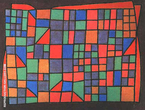 Glass Facade 1940 By Paul Klee Replica Paintings on Canvas - Reproduction Gallery