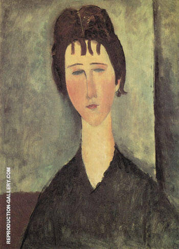 Reproduction of Woman with Blue Eyes 1918 by Amedeo Modigliani | Oil Painting Replica On CanvasReproduction Gallery