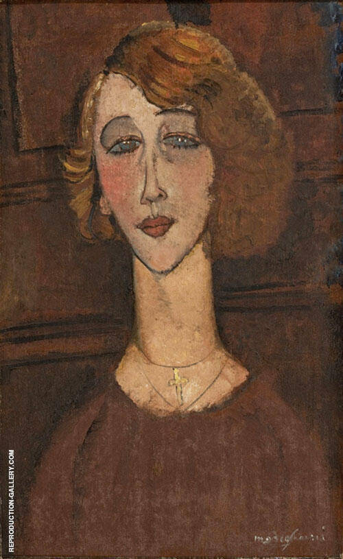 The Blonde Renee 1916 By Amedeo Modigliani Replica Paintings on Canvas - Reproduction Gallery