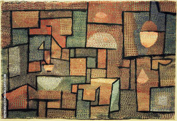 Room with Northern Exposure 1932 By Paul Klee Replica Paintings on Canvas - Reproduction Gallery