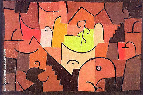 Stage Landscape 1937 By Paul Klee Replica Paintings on Canvas - Reproduction Gallery